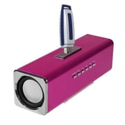 Insten® 6W Mobile Speaker With FM Radio, Hot-Pink