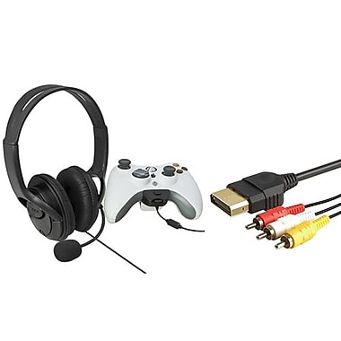 Insten® 1034366 2-Piece Game Cable Bundle For Microsoft Xbox 360
