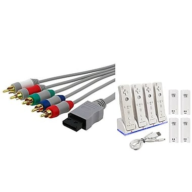 Insten® 1034402 2-Piece Game Cable Bundle For Nintendo Wii/Wii U