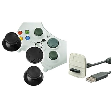 Insten® 1034906 2-Piece Game Cable Bundle For Microsoft Xbox 360 Wireless Controller