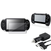 Insten® 1035040 3-Piece Game Car Charger Bundle For Sony PlayStation Vita