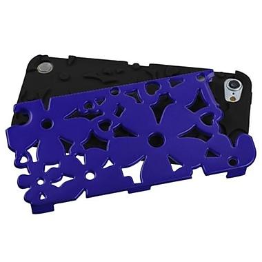 Insten® FlowerPower Hybrid Protector Cover For iPod Touch 5th Gen, Titanium Dark Blue/Black