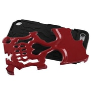Insten® Skullcap Hybrid Protector Cover For iPod Touch 5th Gen, Solid Red/Black