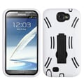 Insten® Symbiosis Stand Protector Case For Samsung Galaxy Note II (T889/I605), Black/White