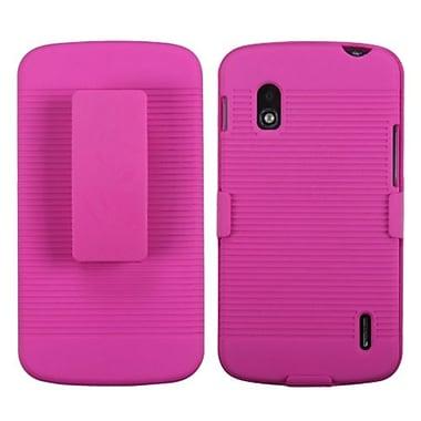Insten® Hybrid Holster For LG E960 Nexus 4, Hot-Pink