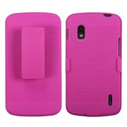Insten® Hybrid Holster For LG E960 Nexus 4, Hot-Pink