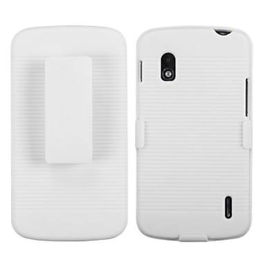 Insten® Hybrid Holster For LG E960 Nexus 4, Solid Ivory White