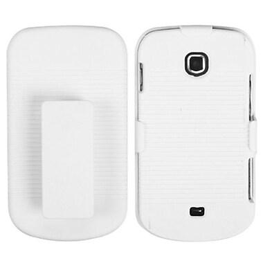 Insten® Rubberized Hybrid Holster For Samsung I200PP/I200, Solid Ivory White