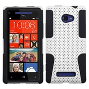 Insten® Protector Case For HTC 6990LVW/Windows 8X/Windows Phone 8X, White/Black Astronoot