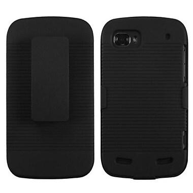 Insten® Hybrid Holster Case For ZTE N861 Warp Sequent, Black