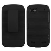 Insten® Hybrid Holster Case For ZTE N861 Warp Sequent, Black