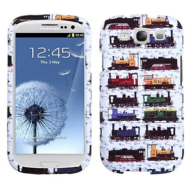 Insten® Phone Protector Case For Samsung Galaxy SIII, Retro Trains/White