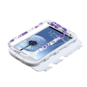 Insten® Hybrid Phone Protector Case For Samsung Galaxy SIII, Purple Hibiscus Flower Romance/White