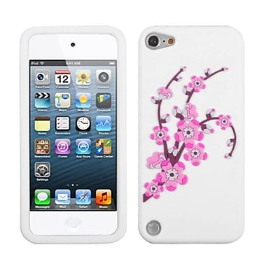 Insten® Pastel Skin Cover For iPod Touch 5th Gen, Spring Flowers/White