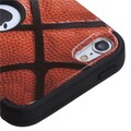 Insten® TUFF Hybrid Phone Protector Cover For iPod Touch 5th Gen, Black Basketball