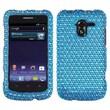 Insten® Diamante Protector Case For ZTE-N9120 Avid 4G, Blue/White Dots