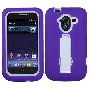 Insten® Symbiosis Stand Protector Case For ZTE-N9120 Avid 4G, White/Purple