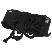 Insten® Butterflykiss Hybrid Protector Cover For iPod Touch 5th Gen, Black/Black