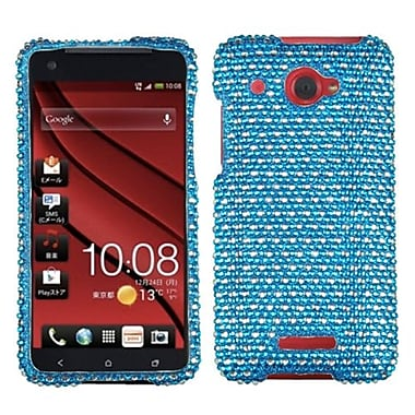 Insten® Diamante Protector Case For HTC Droid DNA, Blue/White Dots