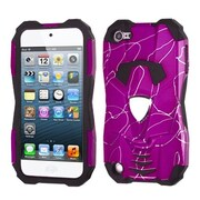 Insten® D Lines Car Pattern Hybrid Protector Cover For iPod Touch 5th Gen, Hot-Pink/Black