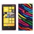 Insten® Candy Skin Cover For Nokia Lumia 920, Neon Zebra Skin