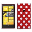 Insten® Candy Skin Cover For Nokia Lumia 920, Red Mixed Polka Dots