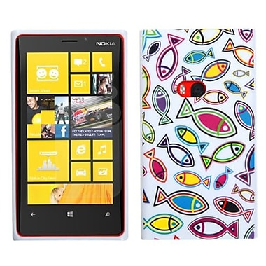 Insten® Candy Skin Cover For Nokia Lumia 920, Fish World/White