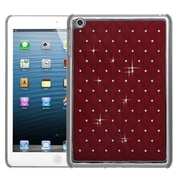 Insten® Luxurious Lattice Dazzling Back Protector Cover F/iPad Mini/iPad Mini 2, Red Silver