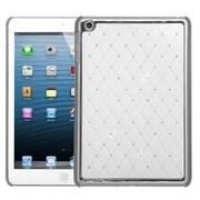 Insten® Luxurious Lattice Dazzling Back Protector Cover F/iPad Mini/iPad Mini 2, Ivory White Silver