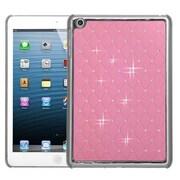 Insten® Luxurious Lattice Dazzling Back Protector Cover F/iPad Mini/iPad Mini 2, Pink Silver