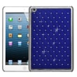 Insten® Luxurious Lattice Dazzling Back Protector Cover F/iPad Mini/iPad Mini 2, Dark Blue Silver