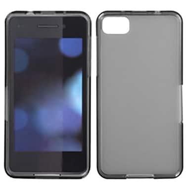 Insten® Rubberized Candy Skin Case For BlackBerry Z10, Semi Transparent Smoke