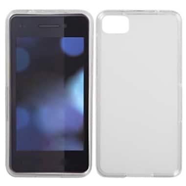 Insten® Rubberized Candy Skin Cover For RIM BlackBerry Z10, Semi Transparent White