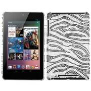 Insten® Diamante Back Protector Cover For Google Nexus 7, Black Zebra