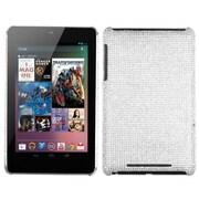 Insten® Diamante Back Protector Cover For Google Nexus 7, Silver