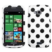 Insten® Phone Protector Cover For Samsung ATIV Odyssey i930, Black Polka Dots/White