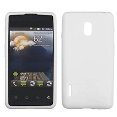 Insten® Skin Cover For LG US780 Optimus F7/LG870 Optimus F7, Solid Translucent White