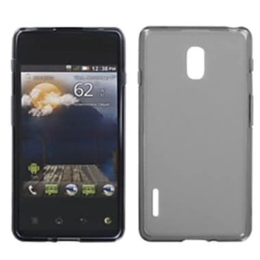 Insten® Candy Skin Cover For LG US780 Optimus F7/LG870 Optimus F7, Semi Transparent Smoke