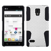 Insten® Soft Protector Case For LG P769 Optimus L9, White/Black Astronoot