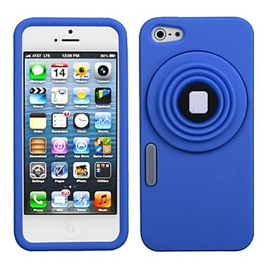 Insten® Pastel Skin Cover With White Lens F/iPhone 5/5S, Dark Blue