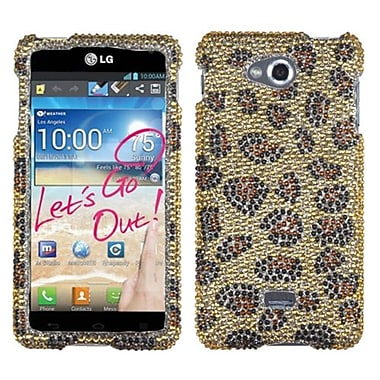 Insten® Diamante Protector Case For LG MS870 Spirit 4G, Camel Leopard