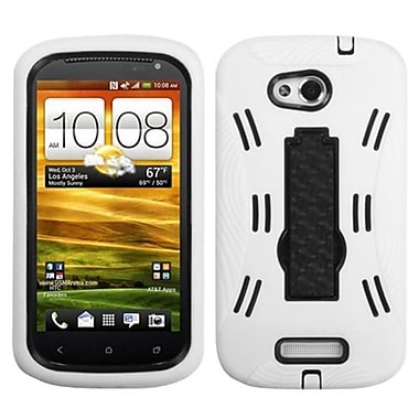 Insten® Symbiosis Stand Protector Case For HTC-One VX, Black/White