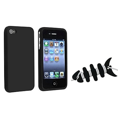 Insten 1065139 2 Piece iPhone Headset Smart Wrap Bundle For Apple iPhone 4 4S