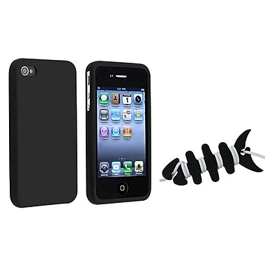 Insten® 1065139 2-Piece iPhone Headset Smart Wrap Bundle For Apple iPhone 4/4S