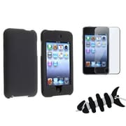 Insten® 1065707 3-Piece MP3 Case Bundle For Apple iPod Touch 2nd/3rd Gen