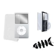 Insten® 1065953 3-Piece MP3 Case Bundle For Apple iPod Classic 120GB/160GB/80GB