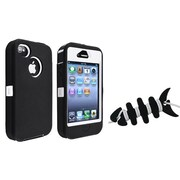 Insten® 1066873 2-Piece iPhone Headset Smart Wrap Bundle For Apple iPhone 4/4S