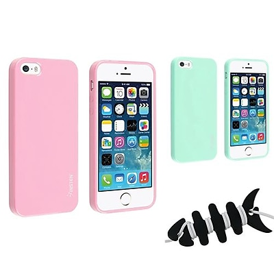 Insten 1067358 3 Piece iPhone Headset Smart Wrap Bundle For Apple iPhone 5 5S