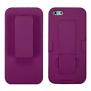 Insten® Hybrid Rubberized Holster W/Stand F/iPhone 5/5S, Hot-Pink