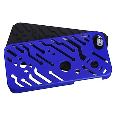 Insten® Circuitboard Hybrid Phone Protector Cover F/iPhone 5/5S, Titanium Dark Blue/Black
